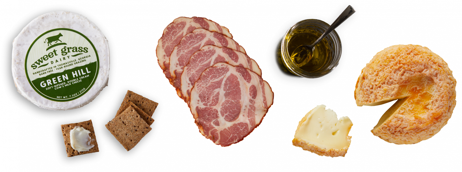 Cheese, Cured Meats, Pantry Items